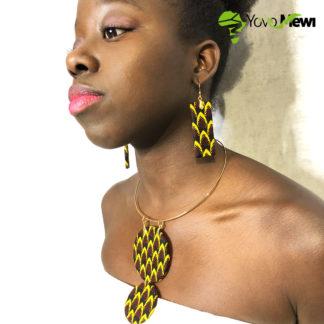 -Parure collier,boucles d'oreilles