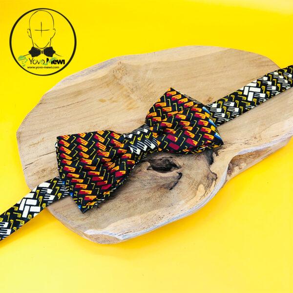 Coffret Nœud papillon wax + Pochette de costume+ boutons de manchette n°34