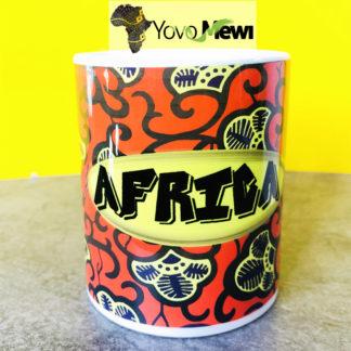 Mug Impression Africa/ tissu wax / mug céramique