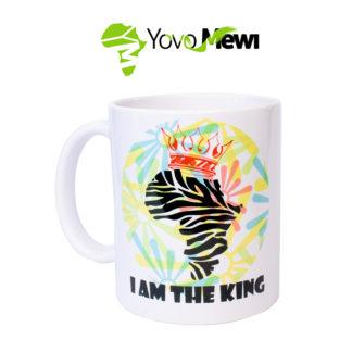 """Mug """"I AM THE kING """" impression sublimation."""