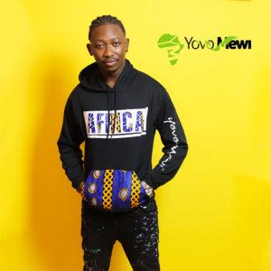 Sweat-shirts AFRICA / couleur bleu et jaune / sweat noir / tissu wax
